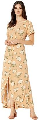Volcom I Stay You Go Short Sleeve Dress (Vintage Gold) Women's Dress