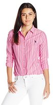 U.S. Polo Assn. Juniors' Long Sleeve Striped Poplin Woven Shirt