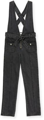 Habitual Ava Black Denim Skinny Jumpsuit, Size 7-14