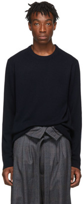 Wooyoungmi Navy Cashmere Crewneck Sweater