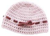 Bonpoint Girls' Velvet-Trimmed Wool Beanie