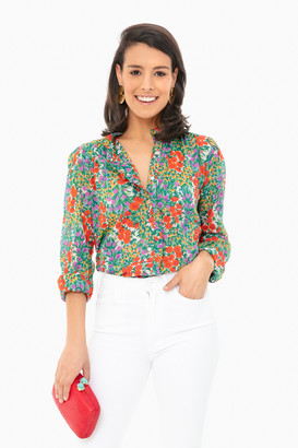 Banjanan Cottage Garden Poppy Multi Chrissie Shirt