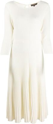 N.Peal Ribbed Knit Midi Dress