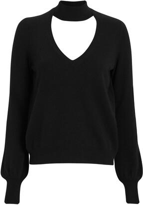 Intermix Antonia Cut-Out Cashmere Sweater