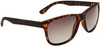 Alfred Sung Tortoise Polarized Modified 56MM Square Sunglasses