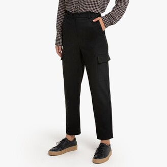 """La Redoute Collections Straight Combat Trousers with Utility Pockets, Length 26.5"""""""