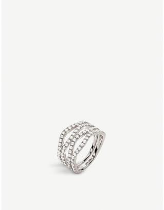 Folli Follie Fashionably silver and crystal band ring
