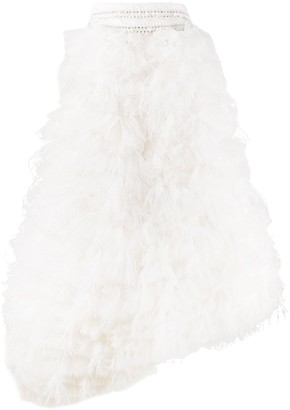 Loulou Feather Tulle Full Skirt
