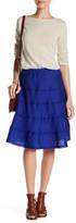 Allen Allen Raw Seam Linen Tiered Skirt (Petite)