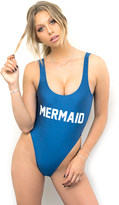 Private Party Mermaid Swimsuit in Grey Blue