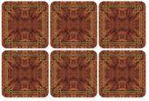 Pimpernel Walnut Burlap Coasters (Set of 6)