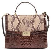 Brahmin Toledo Simone Top Handle Leather Satchel - Brown