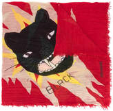 Zadig & Voltaire cat printed scarf