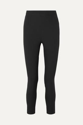 Safiyaa Adrianna Crepe Slim-leg Pants - Black