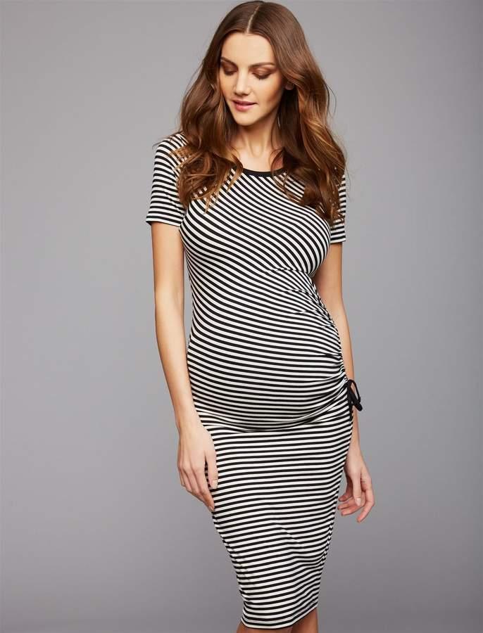 bbbfda288a265 Maternity Black White Striped - ShopStyle