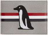 Thom Browne Grey and Orange Penguin Single Card Holder