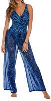 Miraclesuit Animal Print Sheer Cover Up Pants
