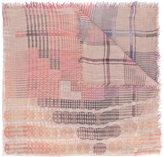 Faliero Sarti check and circle pattern scarf - women - Polyester/Modal - One Size