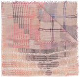 Faliero Sarti check and circle pattern scarf