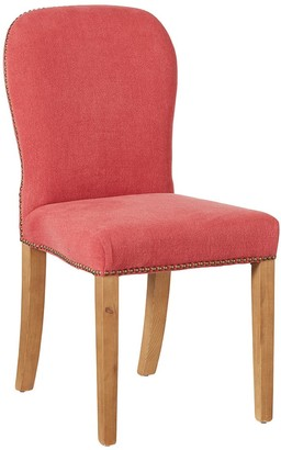 OKA Stafford Linen Dining Chair - Coral