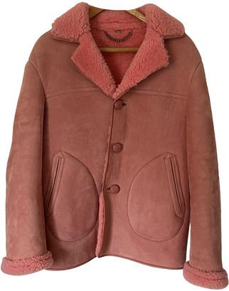 Burberry Pink Suede Jackets