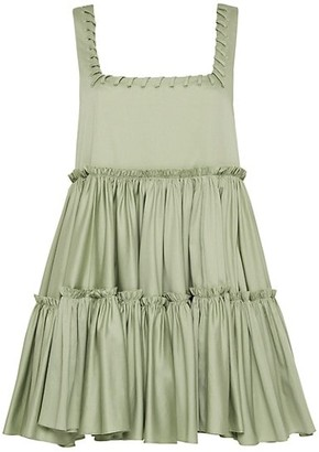 Aje Hushed Laced Sleevless Mini Dress
