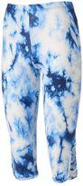 Juniors' Eye Candy Print Strappy Capri Leggings