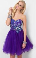 Blush Lingerie Strapless Sequined Short Dress 9414