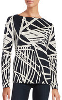 Lafayette 148 New York Spindled Jacquard Top
