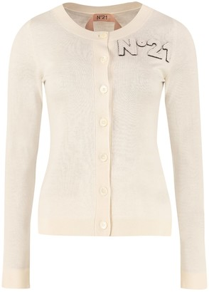 N°21 N.21 Wool Blend Cardigan With Nacre Buttons