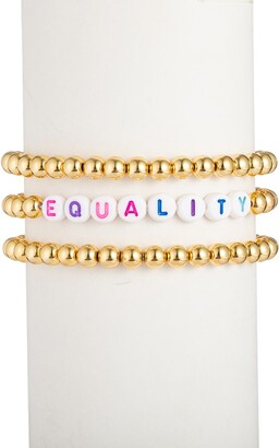 Eye Candy Los Angeles Equality 18K Gold Plated 3-Piece Set