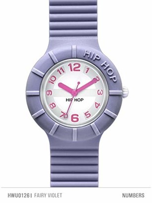 Hip Hop Watches - Ladies Watch Fairy Violet HWU0126 - Numbes Collection - Silicone Wrist Strap - Waterproof Up to 5 ATM - 32mm Case - Lilac