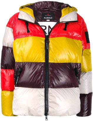 Peuterey Colour-Block Hooded Puffer Jacket