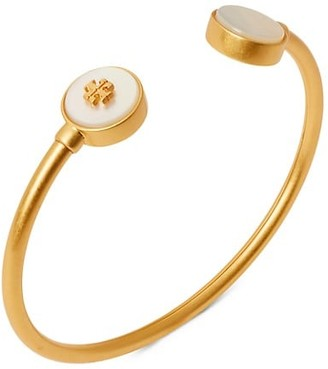 Tory Burch Kira Mother-Of-Pearl Cuff Bracelet