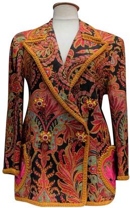 Christian Lacroix Multicolour Linen Jacket for Women Vintage