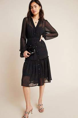 Anthropologie Audrey Clip Dot Shirtdress