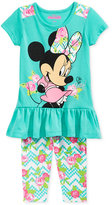 Disney Disney's® Minnie Mouse 2-Pc. Tunic & Capri Leggings Set, Little Girls (2-6X)