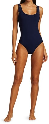 Karla Colletto Swim Maren D-Ring Strap One-Piece Swimsuit