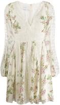 Giambattista Valli floral flared dress