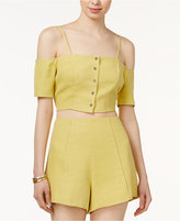 Astr Amalia Cropped Off-The-Shoulder Top