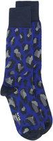 Paul Smith leopard print socks