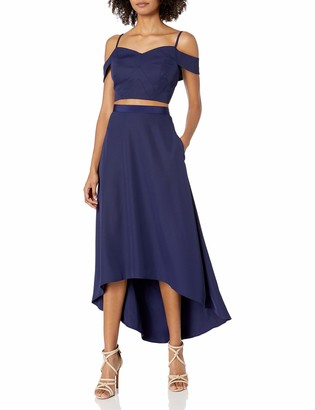 Laundry by Shelli Segal Women's Off The Shoulder Two Piece