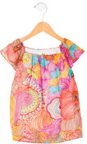 Milly Girls' Floral Print Short Sleeve Top w/ Tags