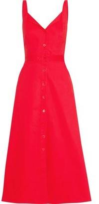 Equipment Oleisa Stretch-cotton Poplin Midi Dress