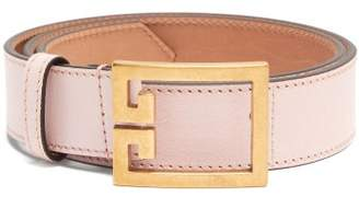 Givenchy Double-g Leather Belt - Womens - Light Pink