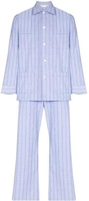 Derek Rose Arran vertical-stripe pyjamas