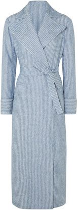 Giuliva Heritage Collection The Belinda Pinstriped Linen Coat