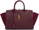 Saint Laurent Burgundy Small Cabas Monogram Bag