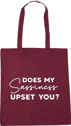 Hippowarehouse Does my sassiness upset you? Tote Shopping Gym Beach Bag 42cm x38cm 10 litres