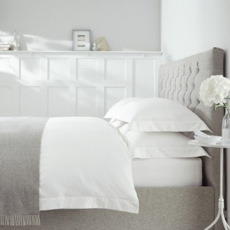The White Company Aubrey Duvet Cover, White, Super King